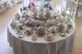 Tea sets and accessories.