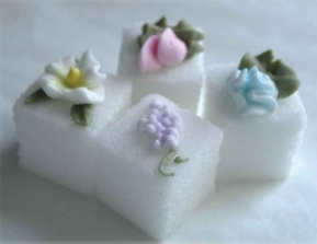 Exquisite hand-decorated sugars.